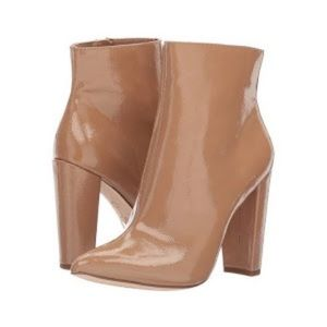 Jessica Simpson Temmey Tan Patent Booties Size 8.5